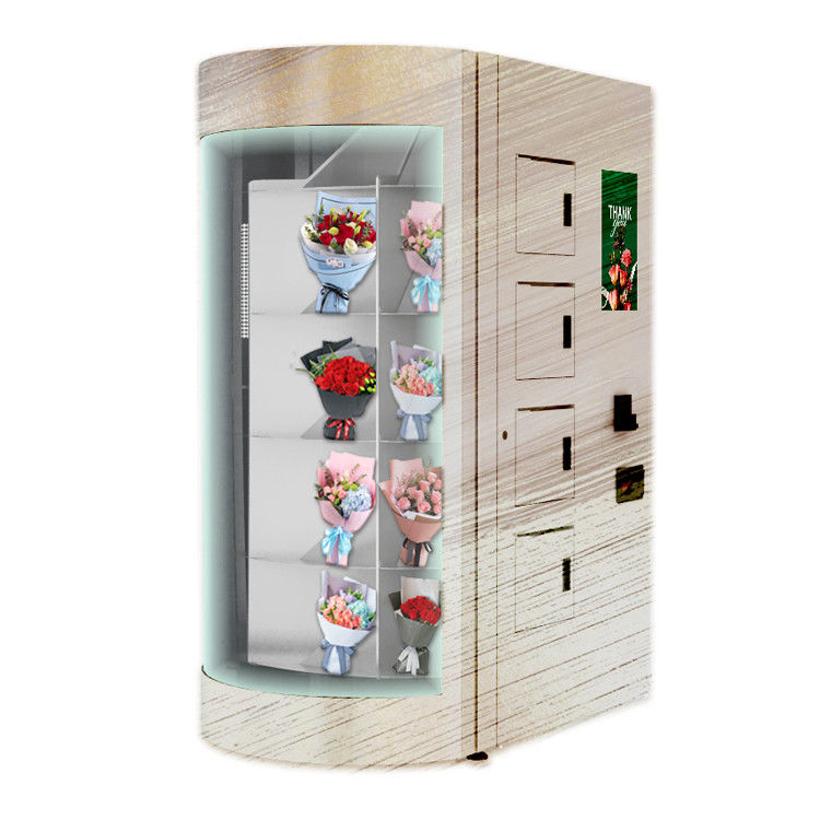 Self Service Restaurant Fresh Flower Vending Machine Locker with Credit Card Payment